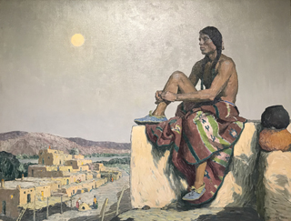 The Cacique, c 1932 E. Irving Couse, 1866-1936 Harwood Museum of Art, Taos